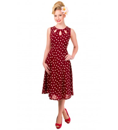 Songbird Dress- Bordeaux